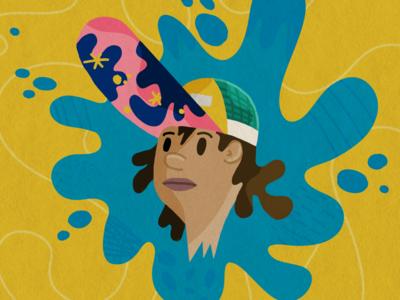 Trucker Hat shapes running patagonia illustration