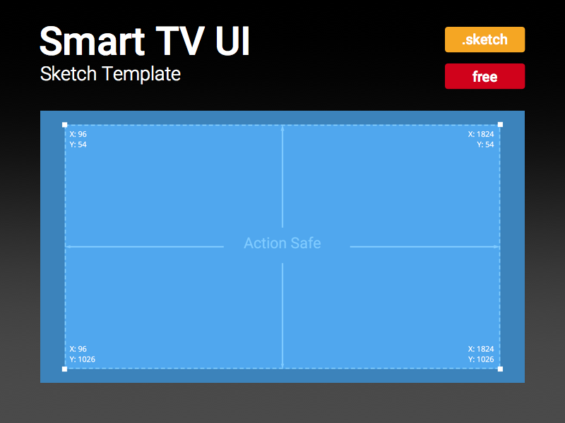 Smart TV UI Sketch Template by Rizwan Javaid - Dribbble