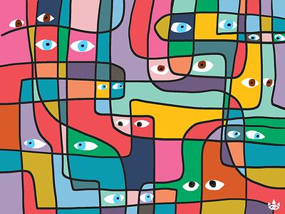 Big Brother eyes colors illustration