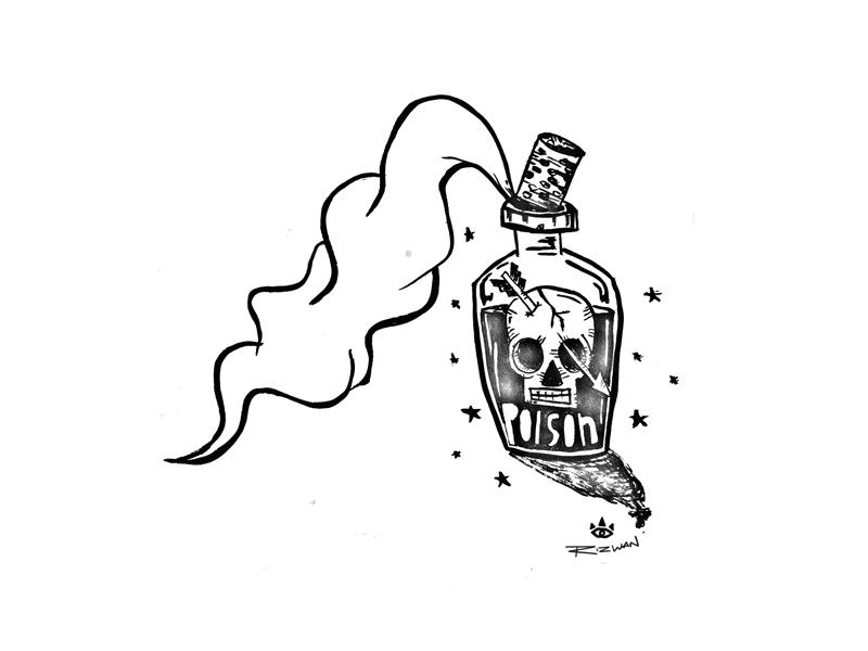 A Poisonous Concoction - Inktober #3 2017 sketching machine 30-day challenge art inktober inktober 2017 artwork illustration