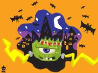 RIZ Logo Halloween Theme - Frankenstein (Finger Drawing)