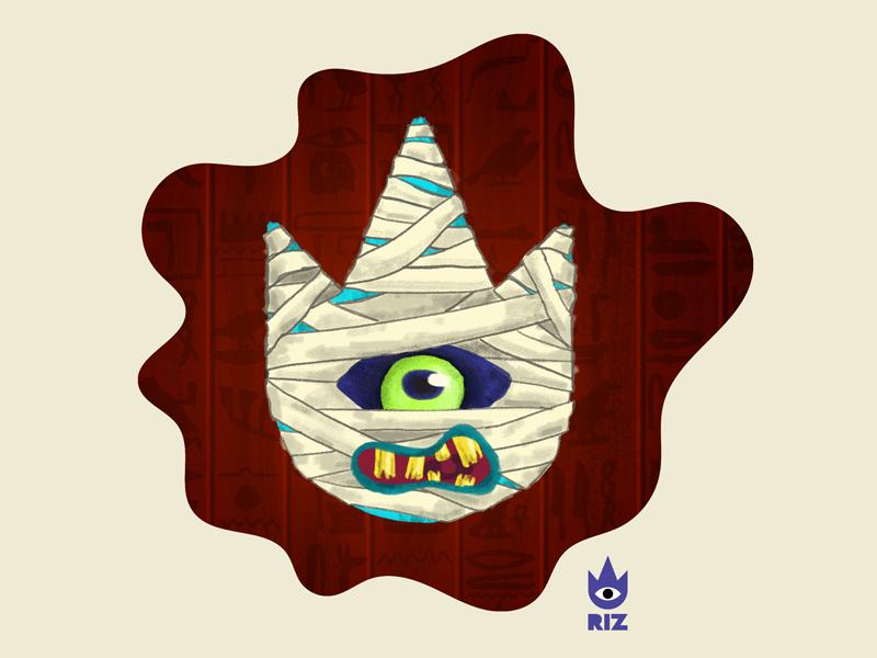 RIZ Logo - Mind Your Mummy design art hieroglyphics egyptian illustration fun spooky mummy halloween