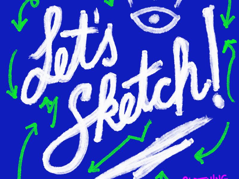Let's sketch! colors design sketching
