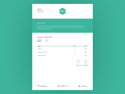 Invoice Template By Roy Dribbble