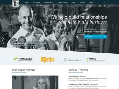 TPCO Home corporate rwd industrial modular mfg people intro web design monochromatic