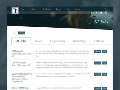 Thomas Publishing Jobs clean manufacturing careers job jobs flat ux branding typography design web ui