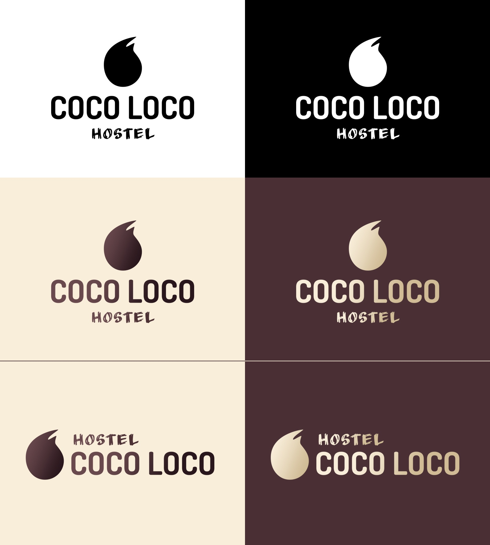 Coco loco logo variations