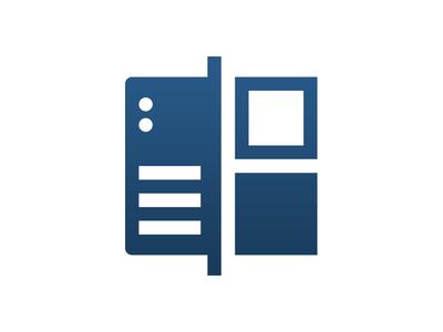 Server-Side Split Testing Icon icon design abtest server vector illustration logo icon