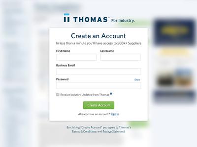Thomas Registration Modal