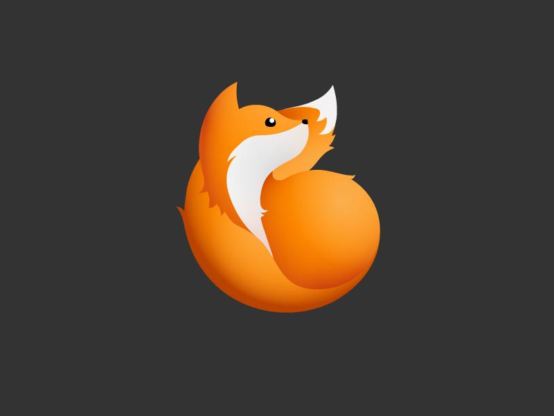 cute fox cub illustration