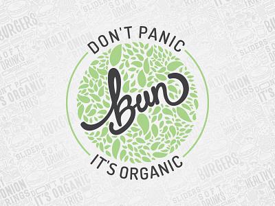 Bun - Organic Restaurant lettering branding logos logo design