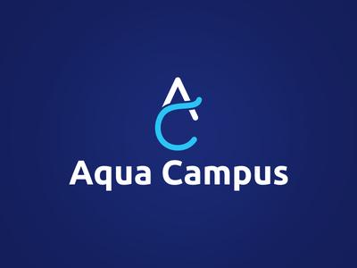 AquaCampus symbol monogram logotype logo design design logo