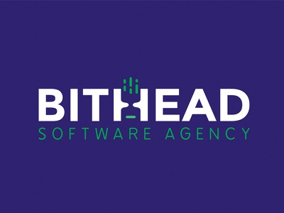 Bithead Logo software agency logotype logo design