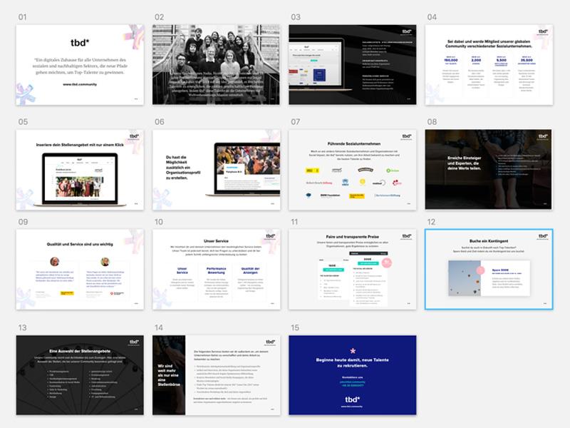 Presentation Deck for tbd.community fun sketch presentation deck