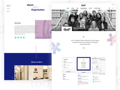 Landing Page - Organizations Profile