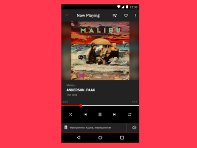 Material Music Player - Now Playing