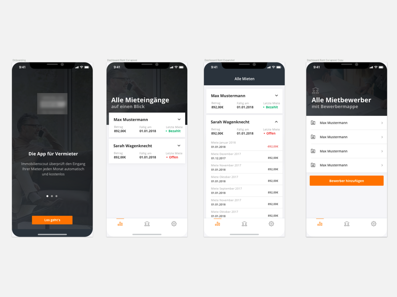 App For Landlords bank connection finance payment rent check landlords ios app iphone x