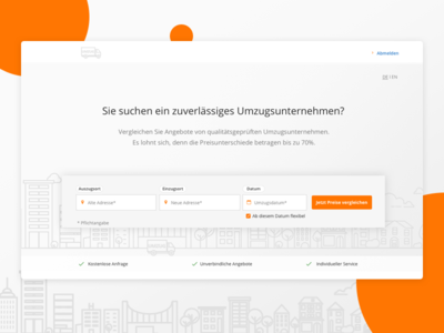 Landing Page - Relocation Service