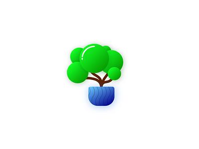 tree illustration plant tree vector design illustration minimalist
