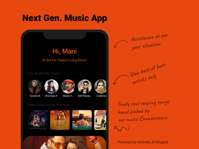 Music App typography design user ui ux experience minimalist meme mobileapp music app music player music