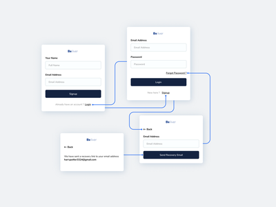 Login Signup Components signup page login page dashboard typography design experience ux ui minimalist