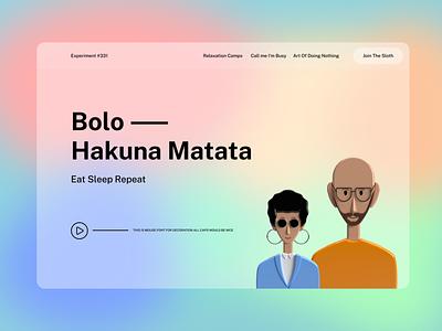 Flowradient experiment design user dashboard experience minimalist