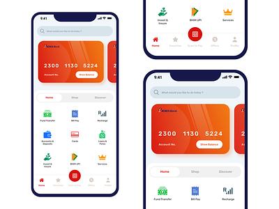 ICICI imobile Banking App - UI Redesign creditcard finance business icici finance app bankingapp design dashboard redesign ux ui minimalist experience