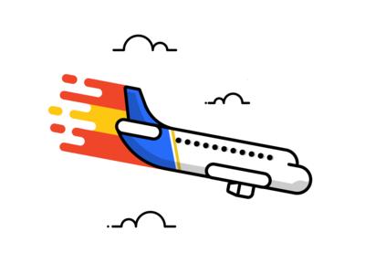 Plane Crash illustration