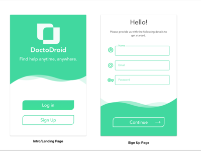 Curvy Doctor Appointment App vector ui design curves rounded corners