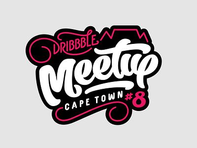 Dribbble Meetup Badge Design logo logotype typography branding font design custom type type design
