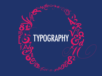 Typography Matters | Slide Opener for Dribbble Meetup logo logotype typography branding font design custom type type design