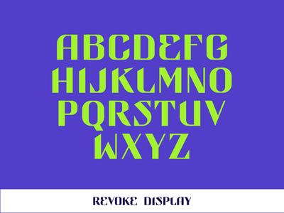 REVOKE DISPLAY logo logotype typography branding font design custom type type design logo design