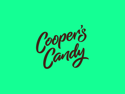 Cooper's Candy Logotype font logo custom type logotype logo design type design lettering branding font design typography