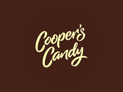 Cooper's Candy Logotype script font letter design branding bespoke logo design logotype logo font design custom type lettering type design typography