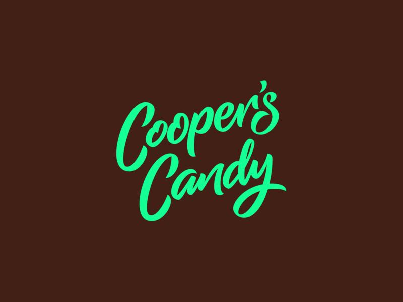 Cooper's Candy Logotype font design calligraphy script font bespoke letter design branding logotype logo logo design type design custom type lettering typography