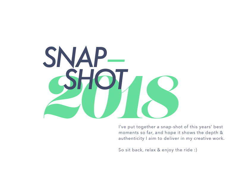 Snap-Shot 2018: futura branding graphic  design typogaphy