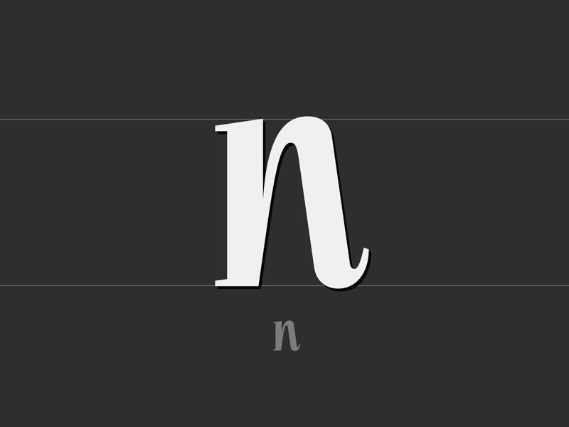 Fresh Wordmark (WIP)   2019 alphabet type design bespoke branding letter design font design custom type n logo design wordmark type logotype logo typogaphy custom font