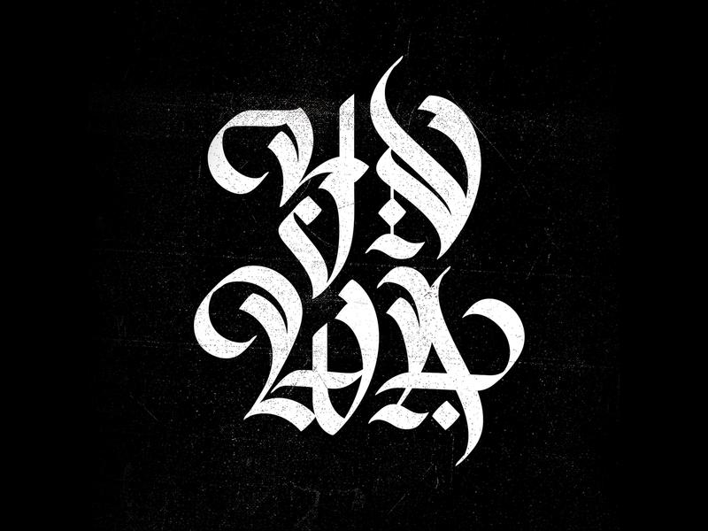 YNWA bespoke font design custom lettering typography letter design lettering ynwa type design calligraphy custom type