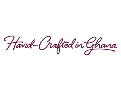 Hand-Crafted in Ghana custom lettering