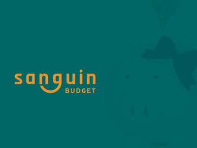 Sanguin Budget Logo identity charity budgeting logo