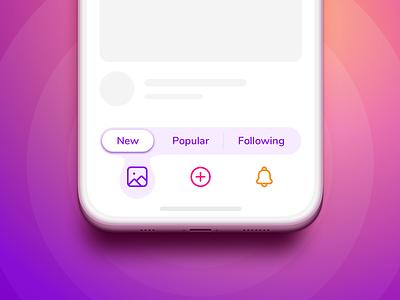 Navigation concept design iphone menubar menu navigation bar segmented control tab bar navigation ux bottom nav app ui interface