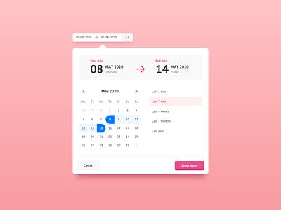 Date picker ui component date selector date range date picker datepicker date ui interface