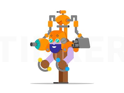 Tinker Dota 2 Illustration characters character flat  design videogames illustration tinker dota 2