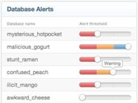 Database alert settings
