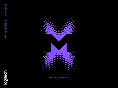 MX master series mx master 3 rebound playoff logitech identity logo design