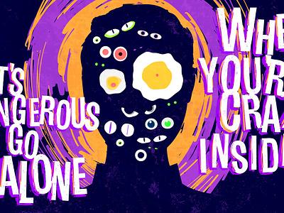 Adobe Creative Jam eggs crazy dark scary eyes illustration creative jam adobe