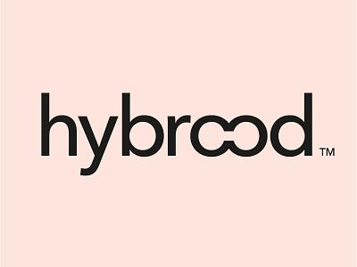 Hybrood logo sans serif connection connected agency design brood hybrid logo