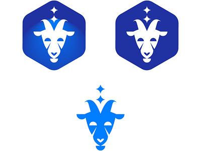 Space goat space goat icon design branding logo