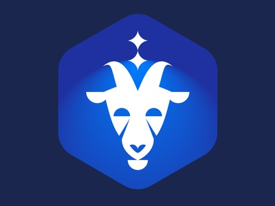 Space goat space goat icon design branding logo