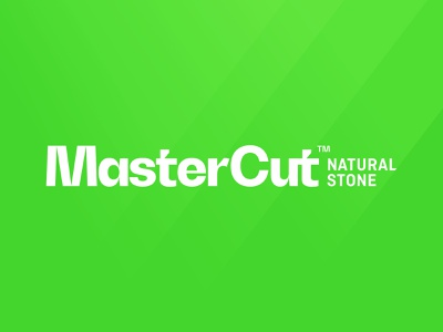 MasterCut Natural Stone branding identity wordmark typography type sans fluorescent 802 stone logo